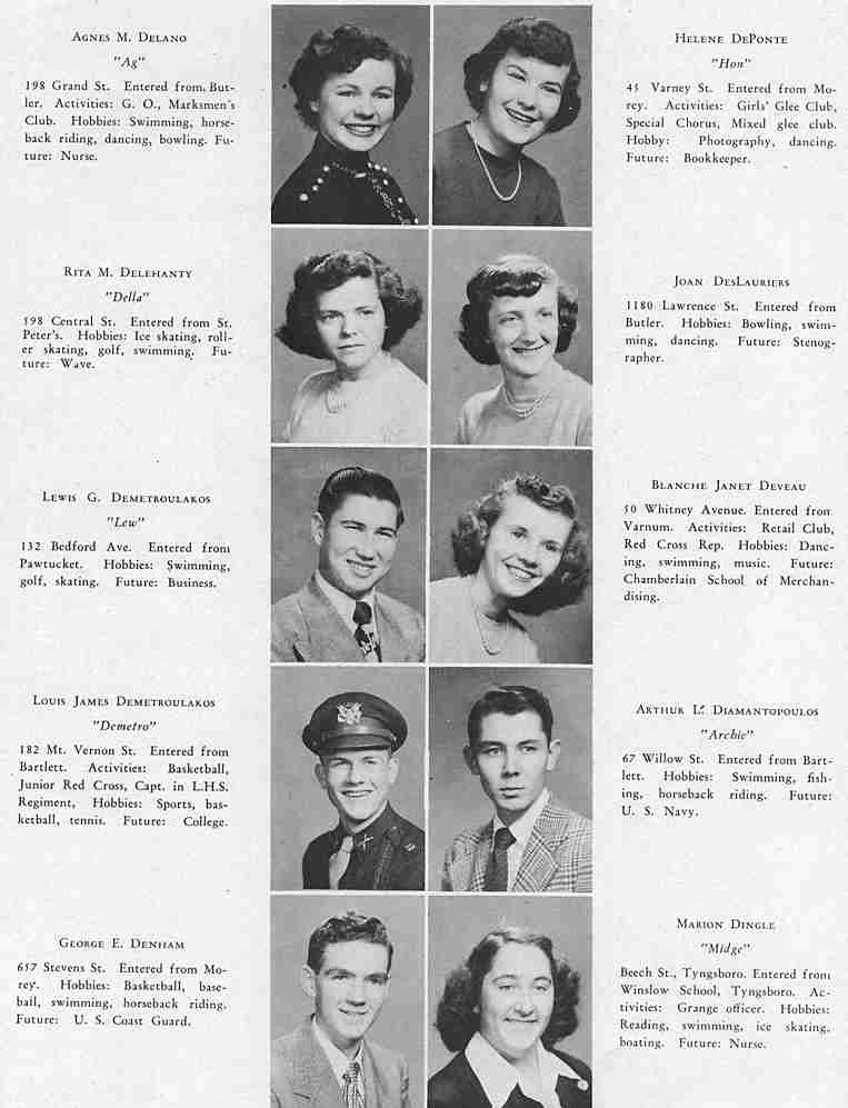 The Spindle, Class of 1951 (A ~ I)